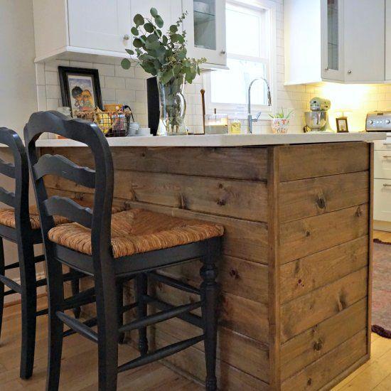 How to shiplap a peninsula and building an IKEA kitchen peninsula - ikea single k che