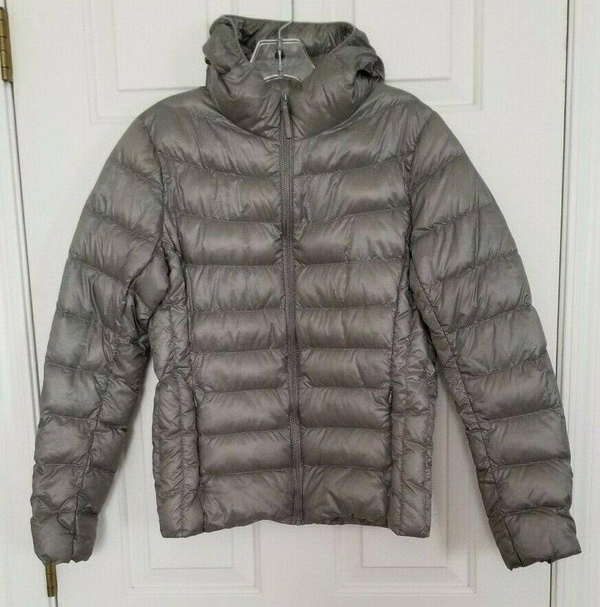 25.95 Ladies UNIQLO Medium Down Packable Puffer Gray