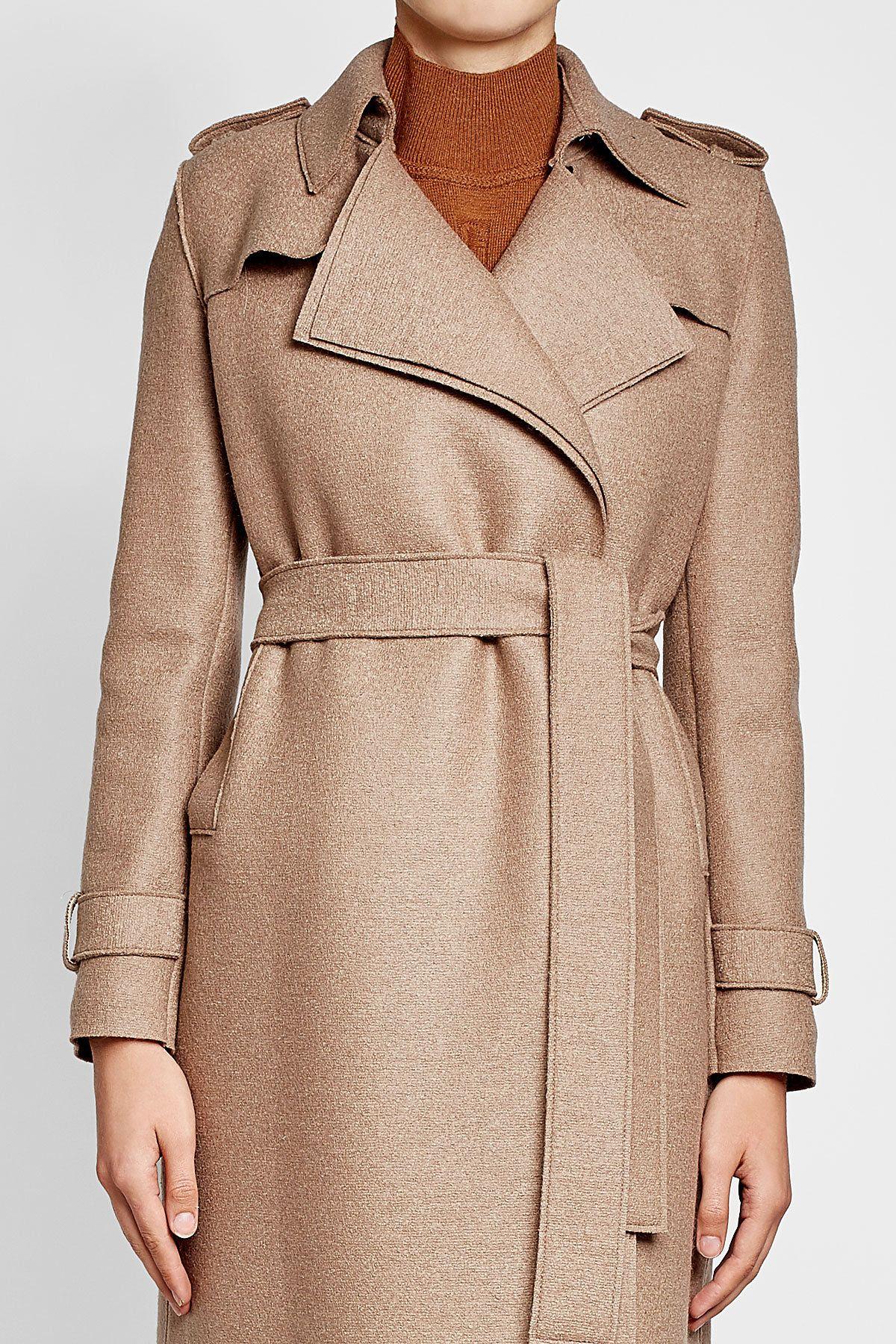 Virgin Wool Coat - Harris Wharf London | WOMEN | GB STYLEBOP.COM