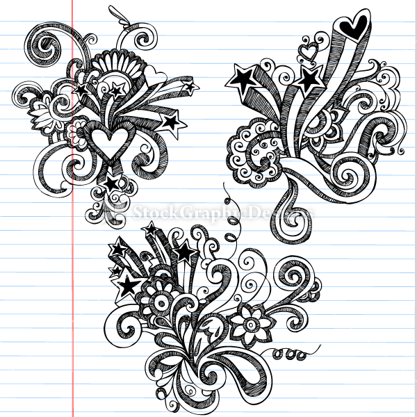 Pretty Designs To Draw Hand-drawn-doodles-flowers ...