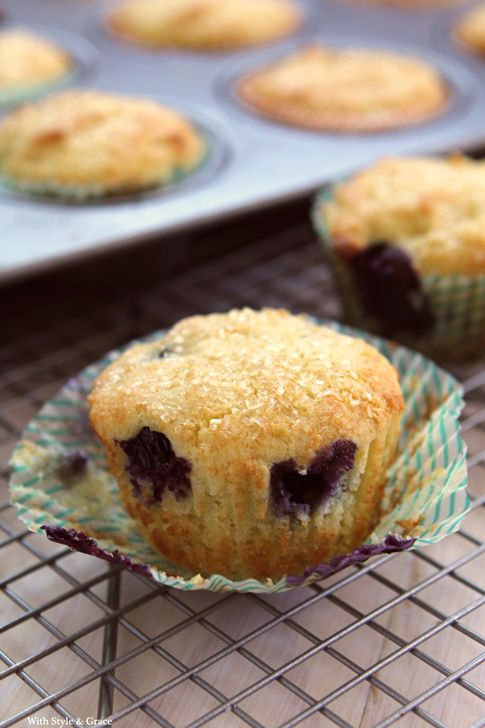 Gluten-free Lemon Ricotta Blueberry Muffins   With Style and Grace