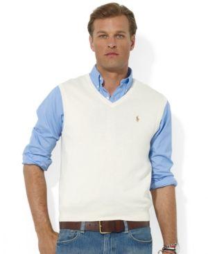 Polo Ralph Lauren Men's Sweater Vest, Core Solid Sweater