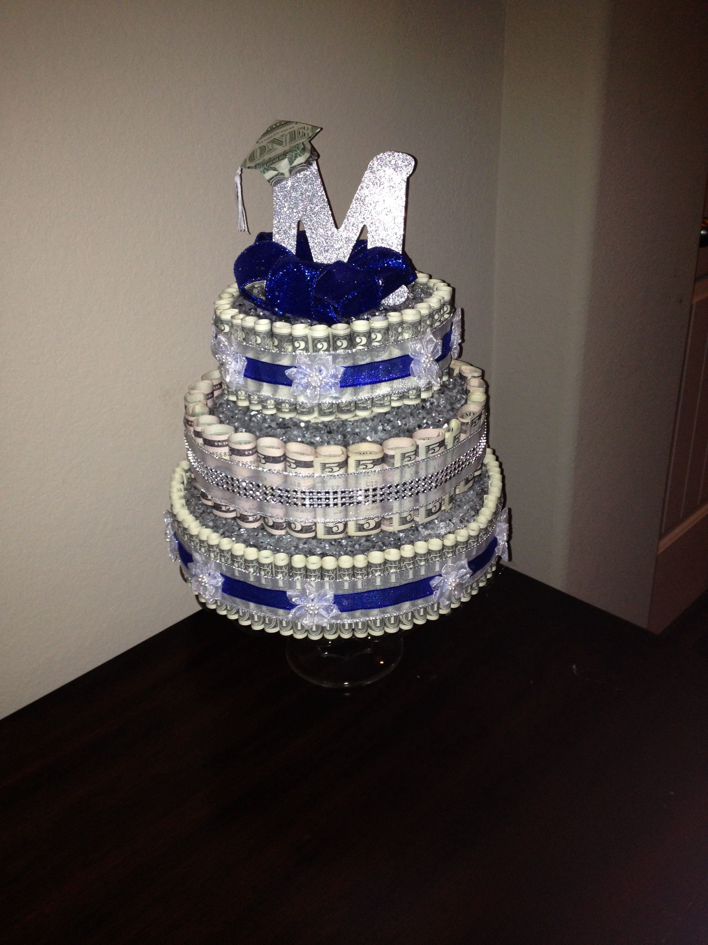 Money Cake for Graduate with Origami folder cap. | Gift ... - photo#44