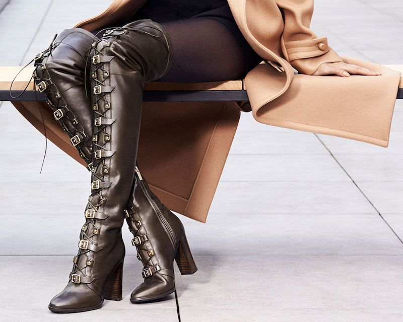 8f207947c8cd JIMMY CHOO Maloy 95 Black Leather Over the Knee Boots