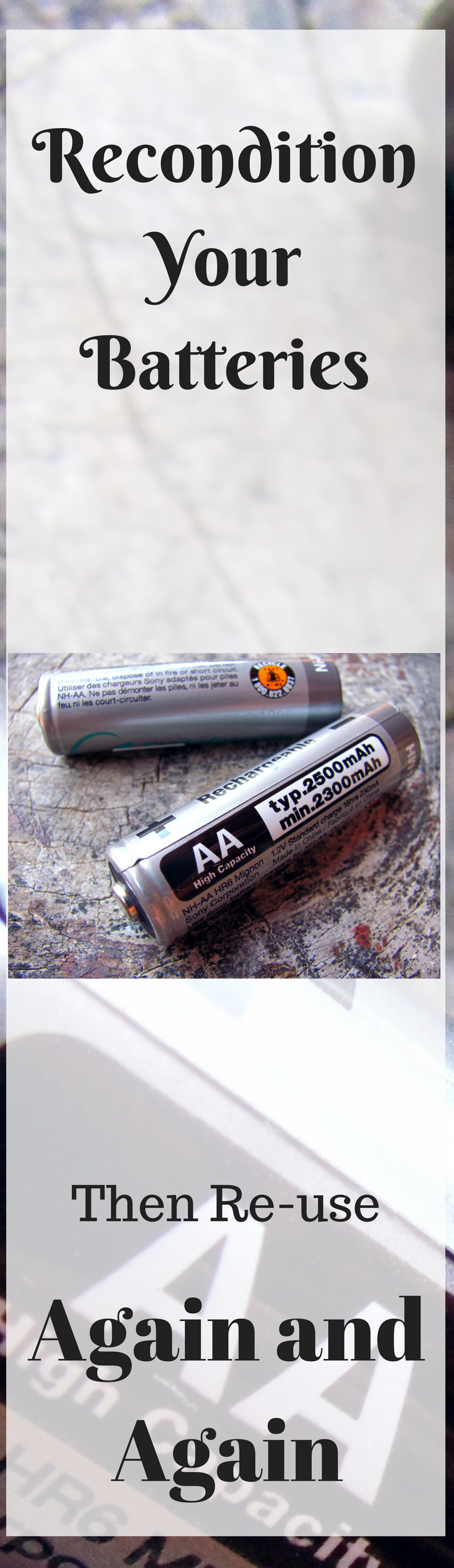 You Don T Have To Buy New Batteries Recondition Your Old Ones And Use Them Again And Again Battery Repair Recondition Batteries Rechargeable Battery Charger
