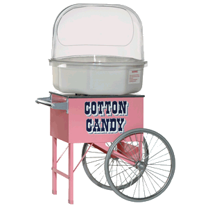 Old Timer Cotton Candy Machine With Cart And Bubble Comes With Supplies To Serve 50 Each Additional Serving Fo Cotton Candy Machine Candy Machine Candy Floss