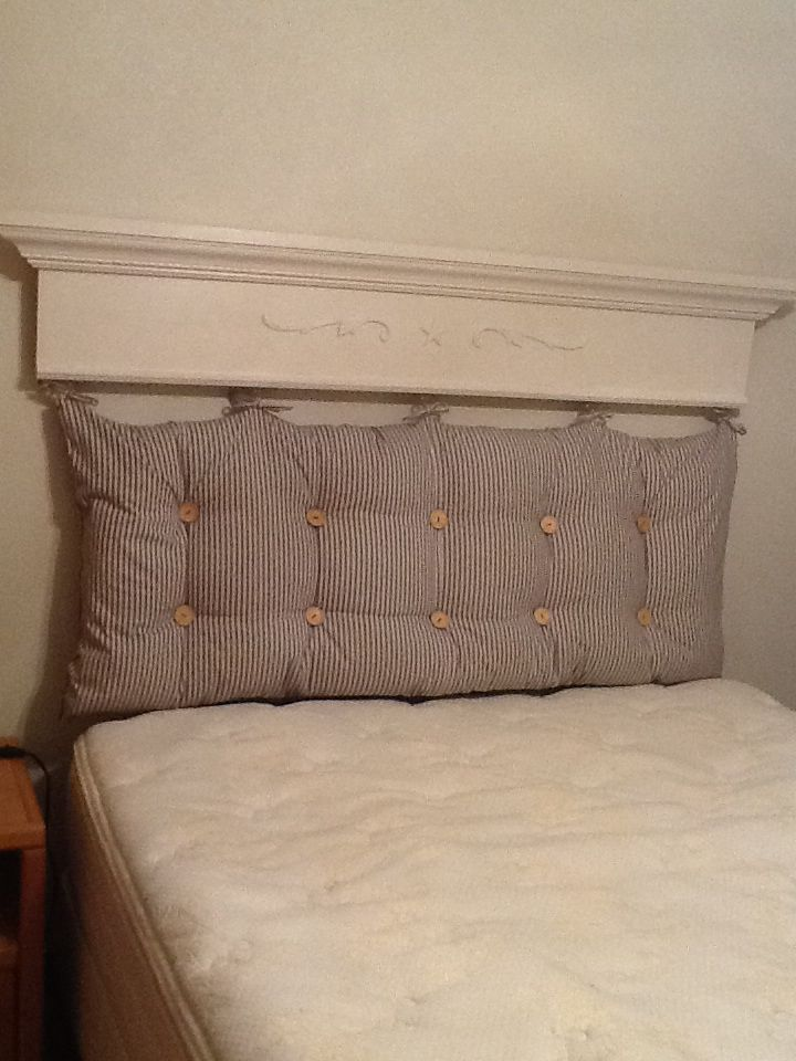 Tufted pillow headboard   Things I've Made   Pinterest ...