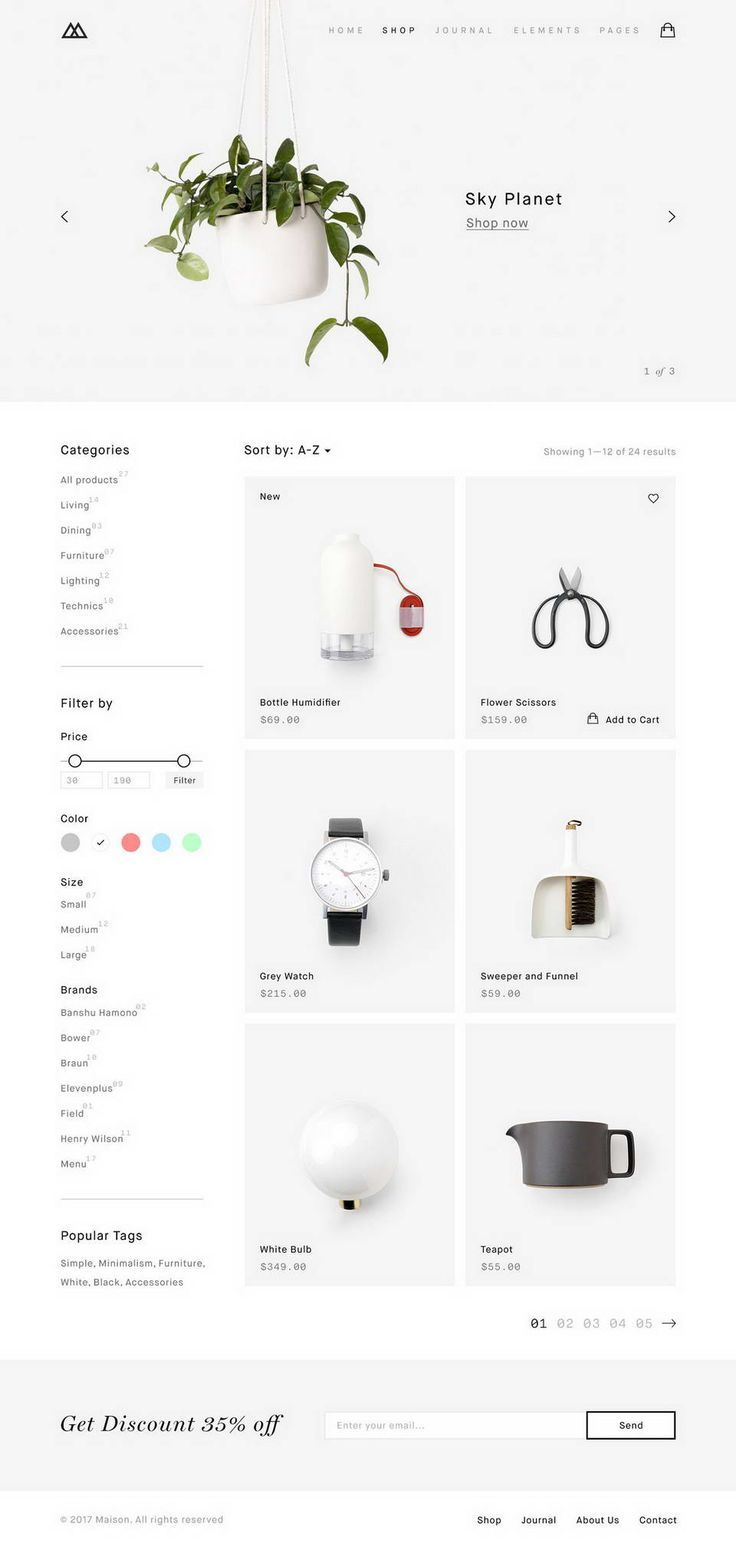 Maison Ecommerce Template · Pinspiry