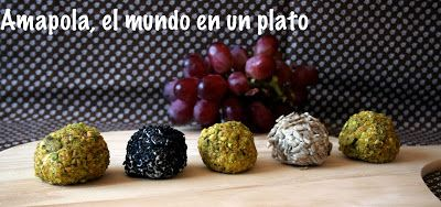 Amapola, el mundo en un plato: Bolitas de queso azul y uvas