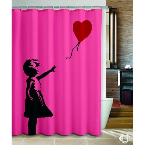 Banksy Girl Heart Balloon Love Cover Shower Curtain With Images