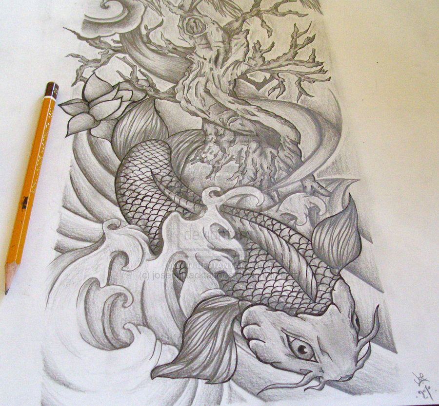 Koi Full Sleeve Commission By Josephblacktattoos On Deviantart Sleeve Tattoos Half Sleeve Tattoos Drawings Half Sleeve Tattoo,Firefighter Tattoo Designs
