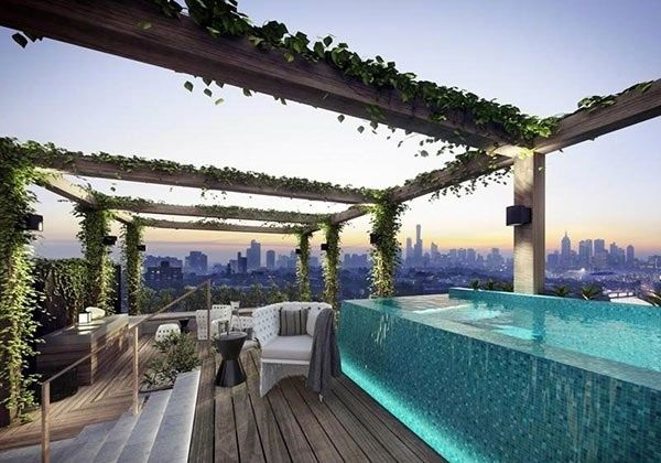 A stunning roof terrace design - 15 rooftop pools that will look ...