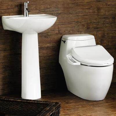 Clean Touch White Color Bidet Seat Large Size With Console