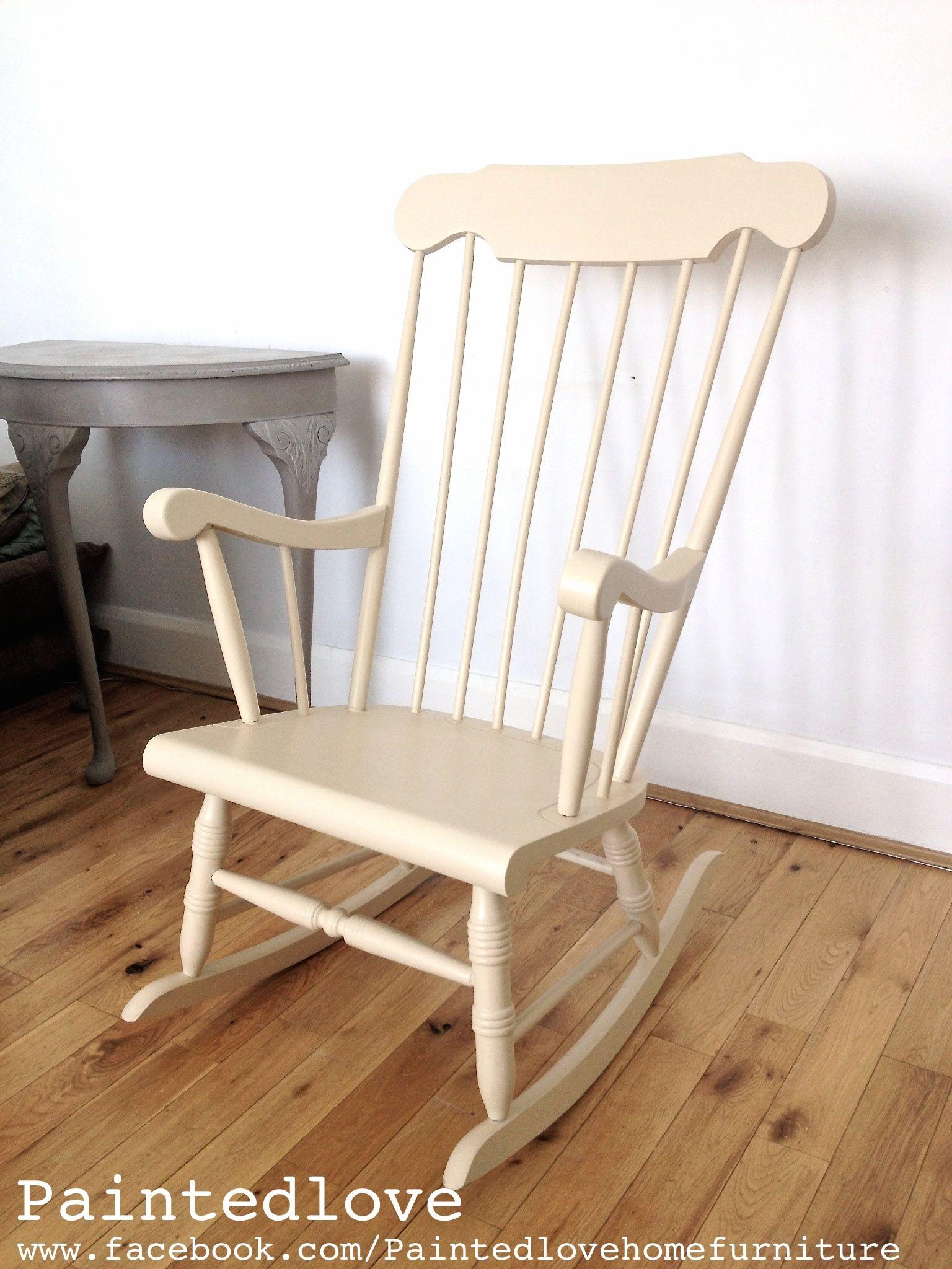 Annie Sloan Old Ochre rocking chair. www.facebook.com ...