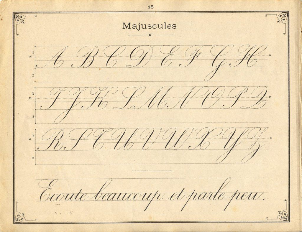 french penmanship calligraphie