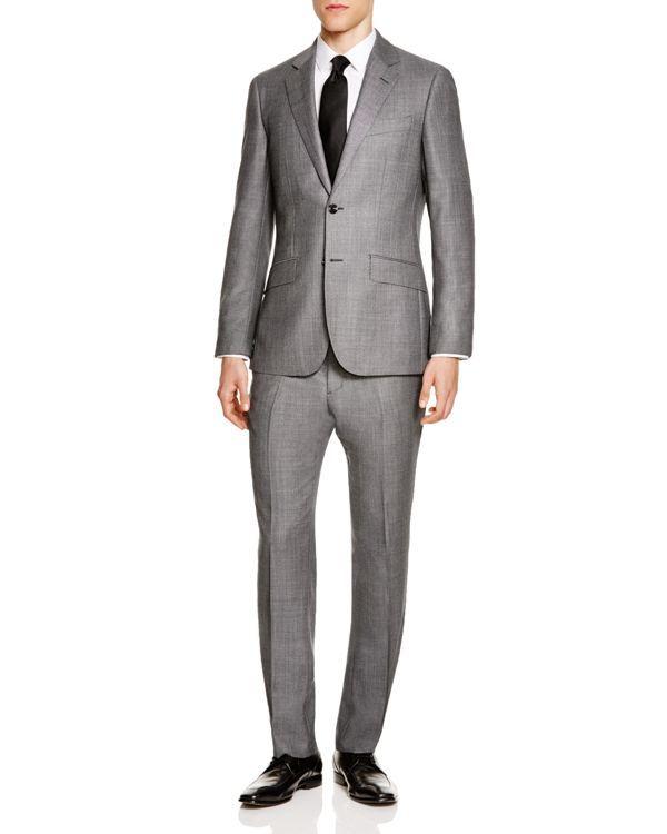 Hardy Amies Birdseye Slim Fit Suit