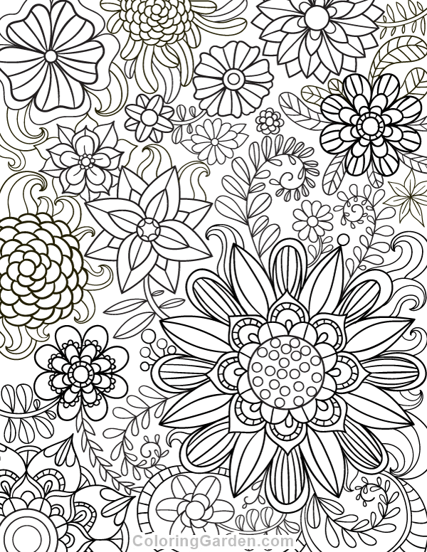 Free Printable Floral Adult Coloring Page Download It In PDF Format At