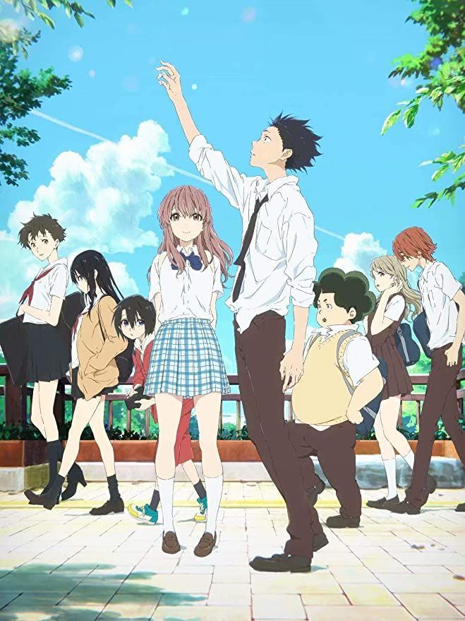 Photo of Japan Anime Poster – A Silent Voice Textless Movie Anime Poster Wall Art Gifts Decor 12×16 inch Metal Tin Poster