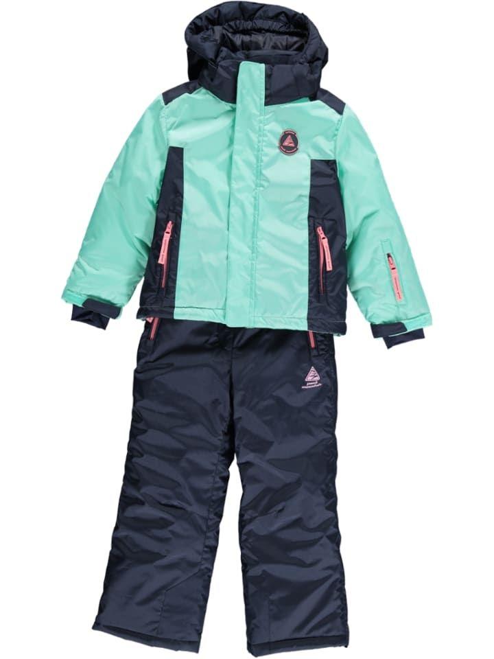 2tlg. Ski Snowboardoutfit in Dunkelblau Türkis in 2020