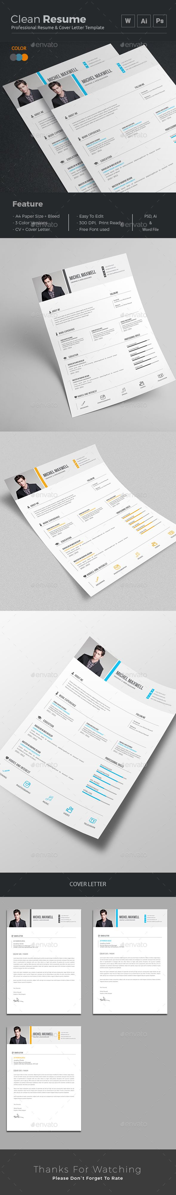 Resume Word  Resume Words Cv Template And Professional Resume Design