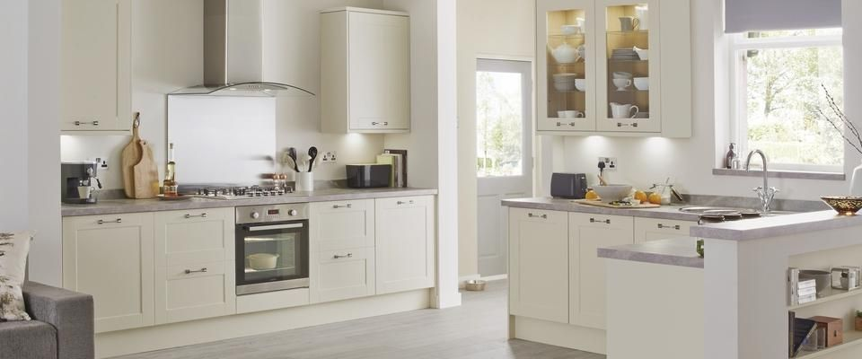The Burford Ivory Kitchen Offers Simple Shaker Doors In A Variety Of Matt,  Gloss Or Wood Grain Finishes.