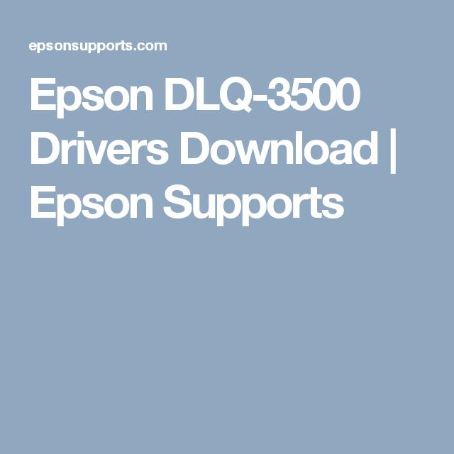 driver epson dlq-3500