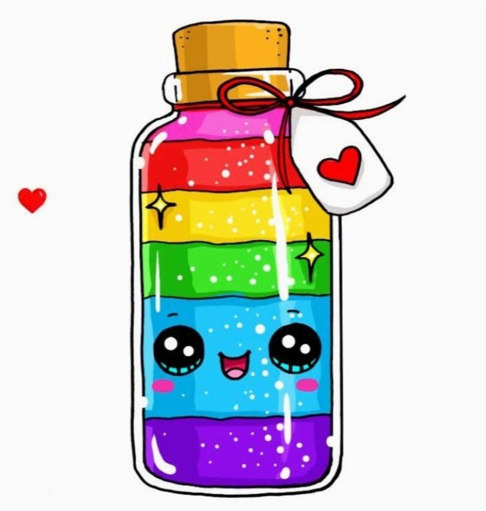 Mini Happiness Mini Bottles Minibottleideas Cute Kawaii Drawings