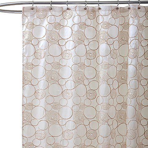 Circle Charm Beige Fabric Shower Curtain Home Decor Pinterest