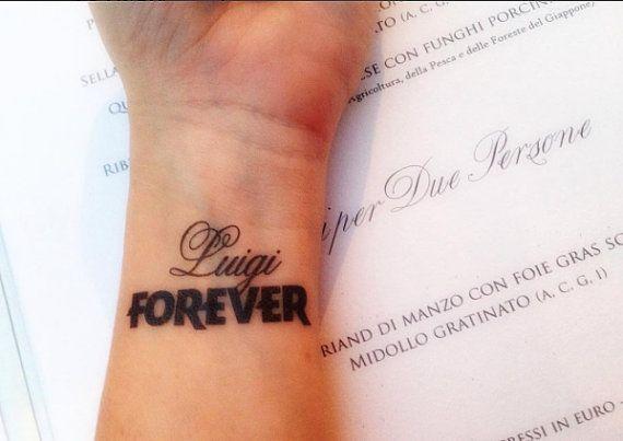 1 Tatouage éphémère personnalisé Prénom FOREVER   Etsy   Tattoos, Tattoo quotes, Instagram posts