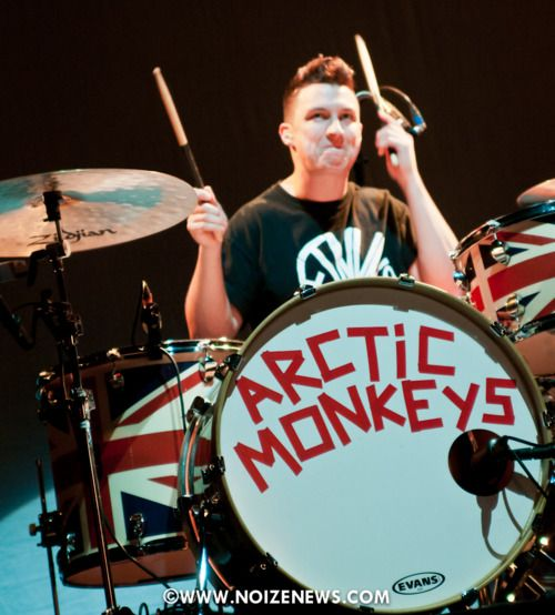 Matt Helder 180 S Union Jack Drums Arctic Monkeys