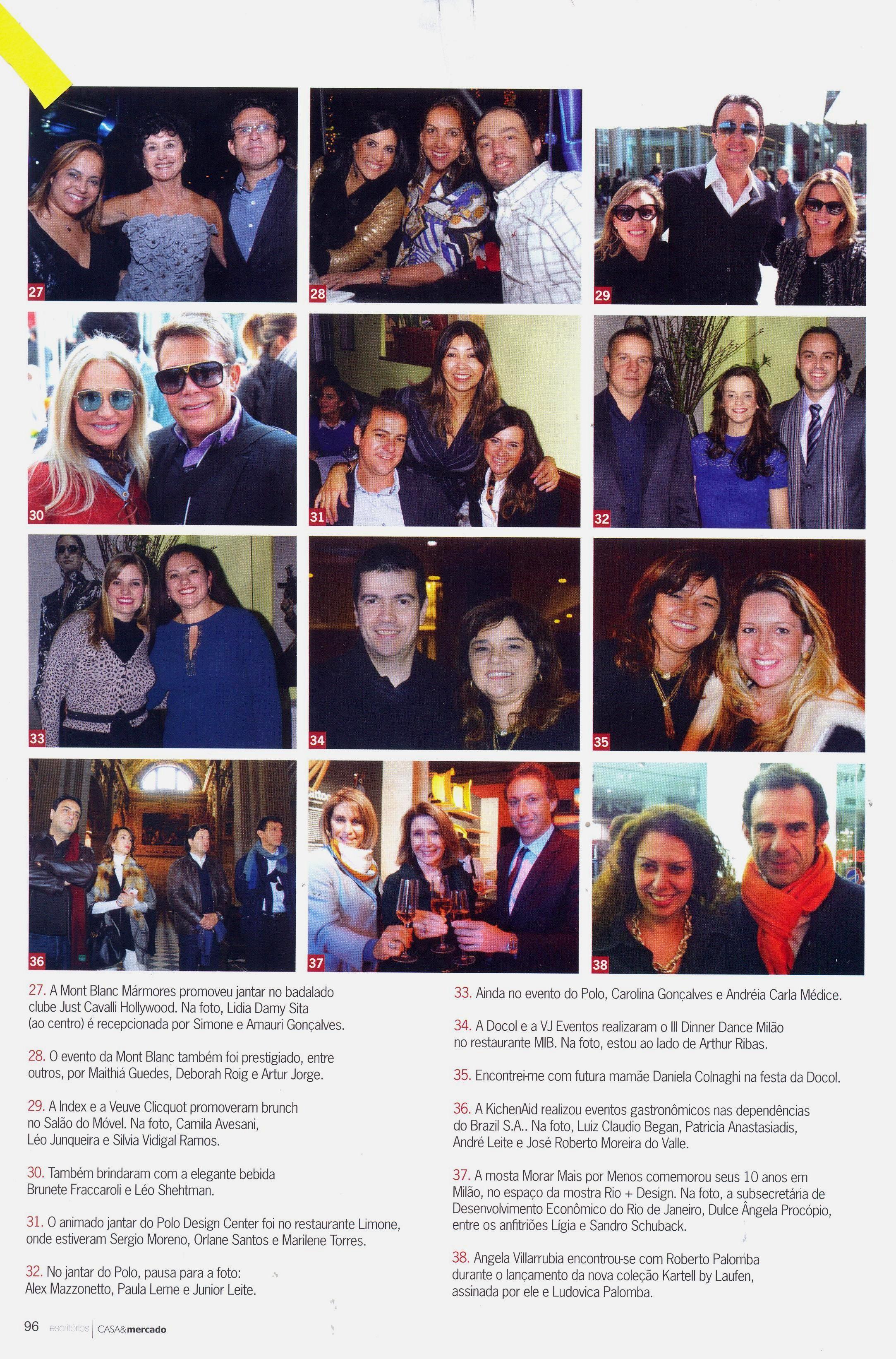 Jantar e Dancing Milão - Revista Casa & Mercado (Jul/2013)