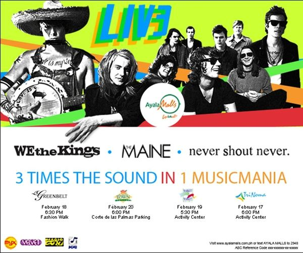 LIV3 (Never Shout Never, We The Kings, The Maine) - Concert # 7