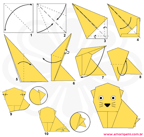 Origami figuras de papel d origami origami paper and kirigami - Origami 3d facile ...