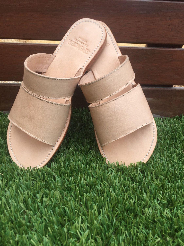 Womens sandals etsy - Dakota Natural Slide Womens Leather Sandals Womens Shoes Leather Shoes Sizes Eu 36 42 Bohemian