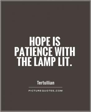 Beautiful definition of hope.                                                                                                                                                      More