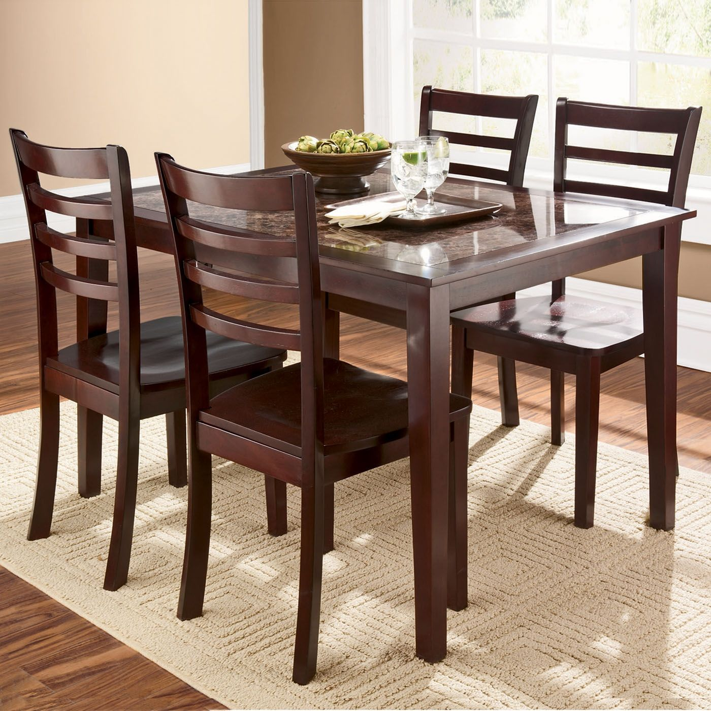 Shopko Kitchen Tables Dining tables chairs cascade faux marble 5 piece dining set dining room furniture kitchen table and chairs workwithnaturefo