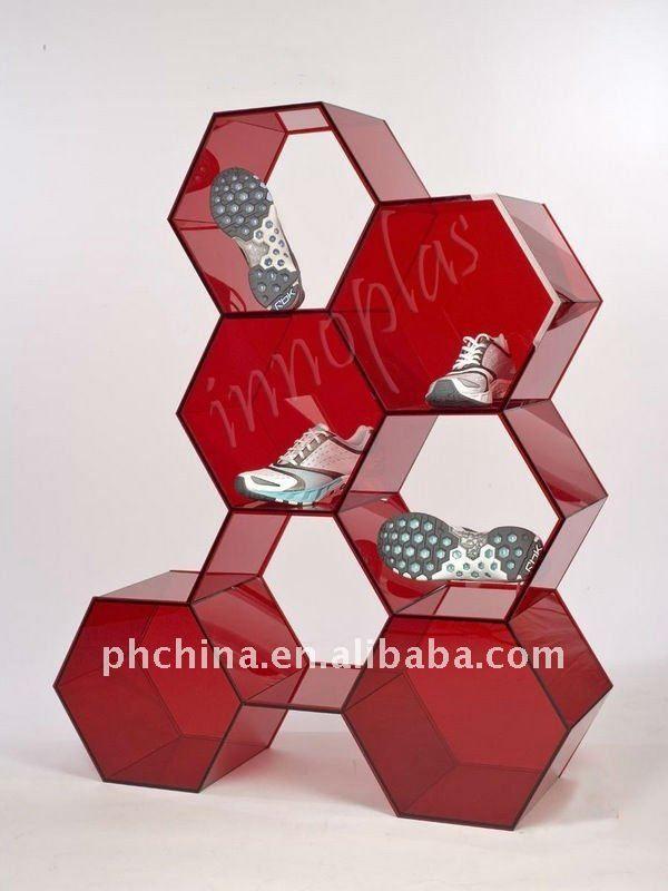 PW-819 Hexagon Acrylic Shoes Display