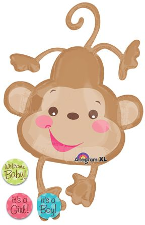 Make Cardboard Cut Out. Baby Shower BalloonsMonkey ...