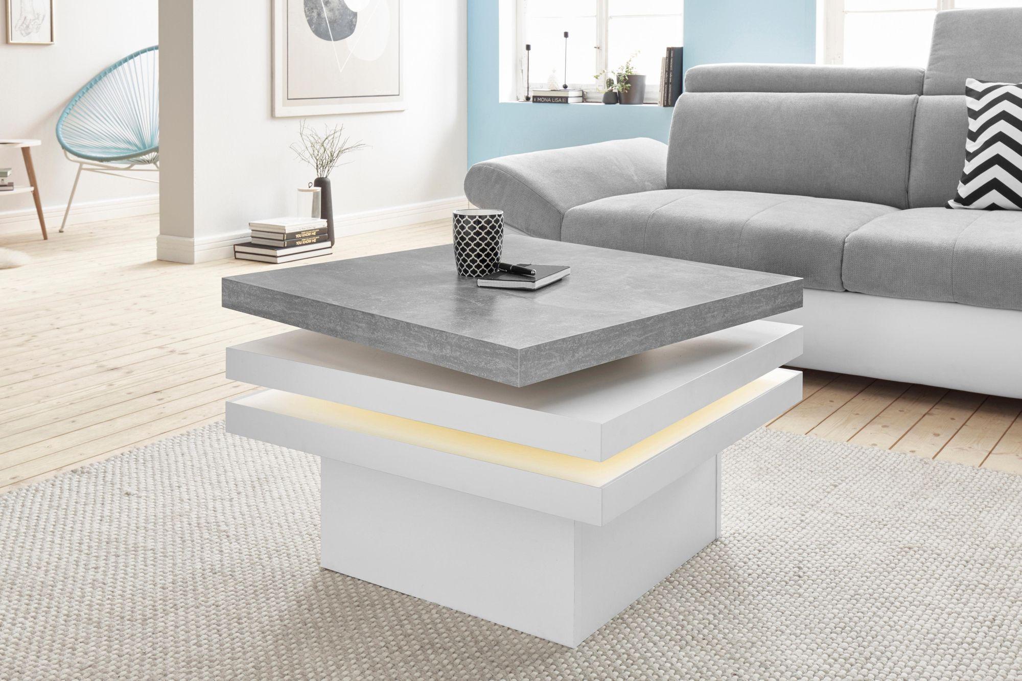 Raum Id Couchtisch Mit Funktion Drehbare Tischplatte Mit Led