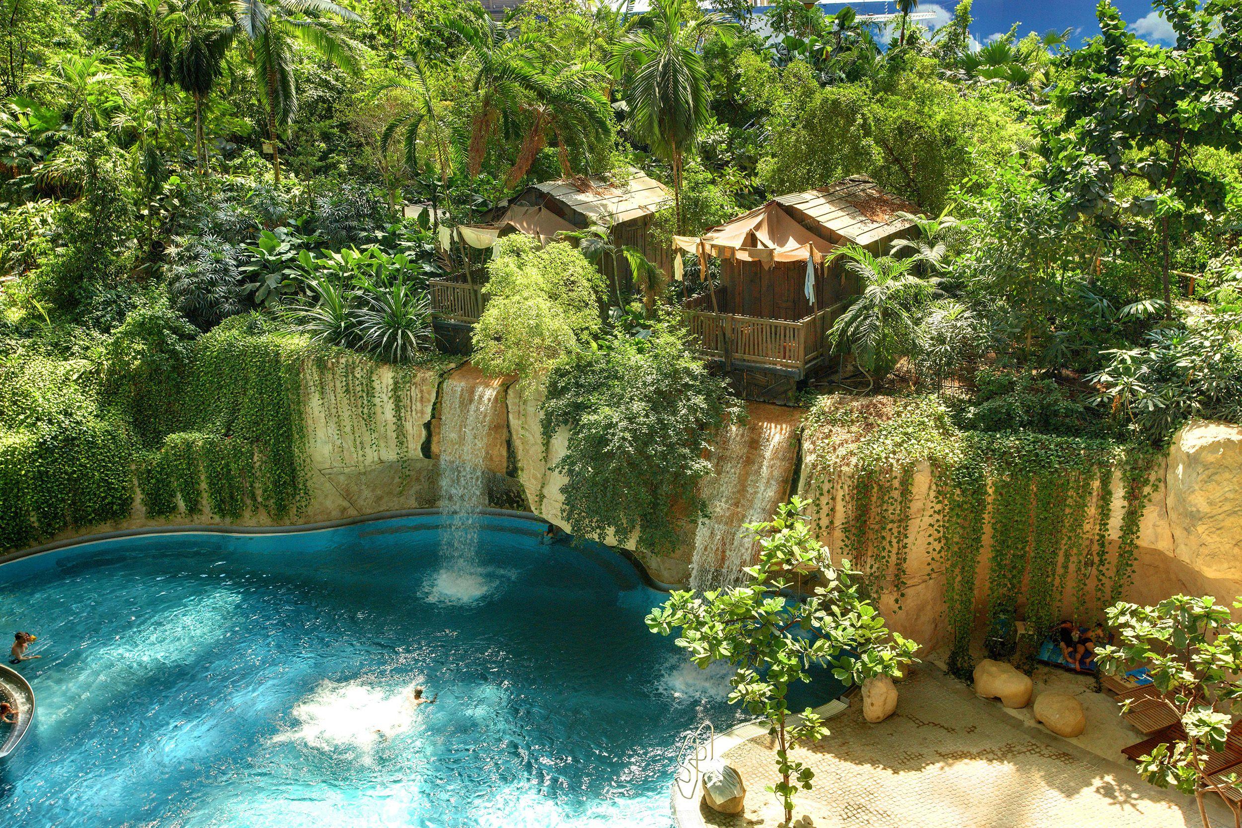 Tropical Waterfall Photos Tropical Rainforest Waterfall Tropical Islands Resort Indoor Beach Island Resort