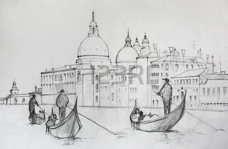 Risultati Immagini Per Disegni Paesaggi A Matita Venezia Italia