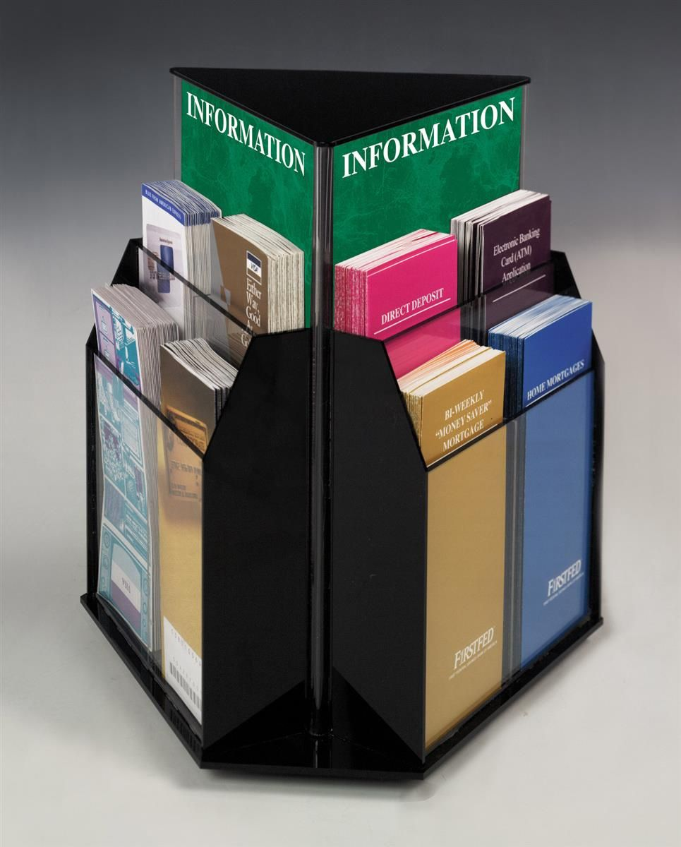 A5 Leaflet Holders Brochure Flyer Display Stand Pack of 4 with Hangers