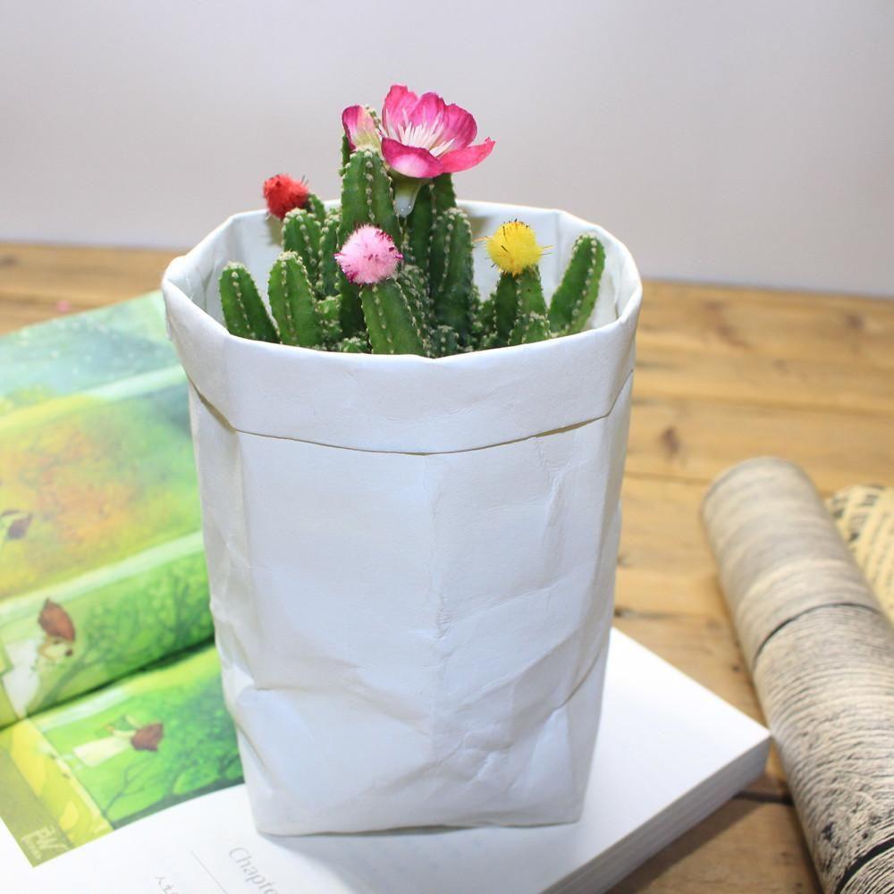 Paper Bag Plant Flowers Pots Multifunction Home Storage Bag Reuse