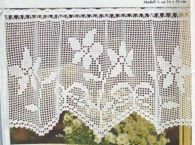 Cortinas Para Cocina En Crochet Free Crochet Instruction
