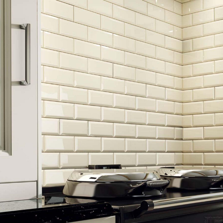 Modern Kitchen Wall Tiles Saura V Dutt Stones: Wandtegel Metro 10x20 Hoogglans Creme