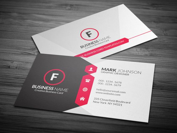 Attractive Modern Corporate Business Card Template Free Download Cp00015 Business Cards Layout Make Business Cards Modern Business Cards