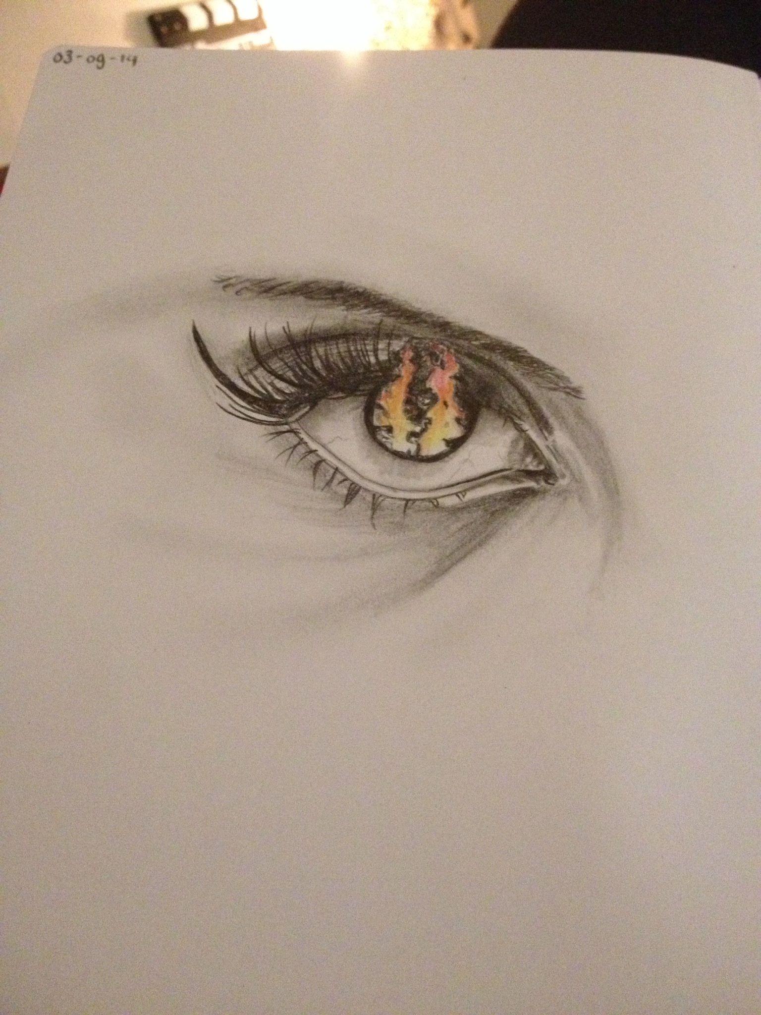1 oog ziet donkerder