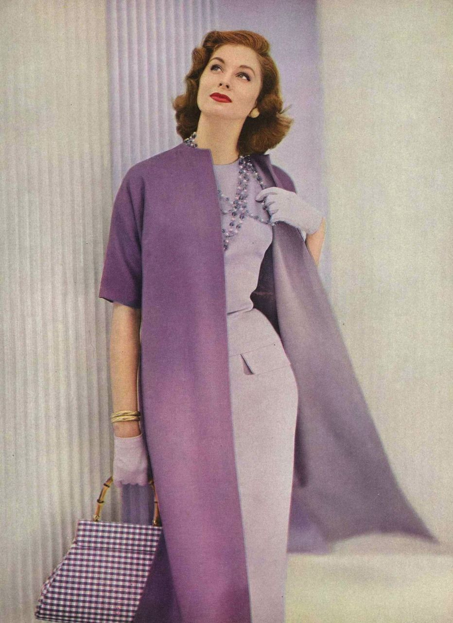 Suzy Parker Photographed by Roger Prigent for Vogue, 1955   Lilac ...