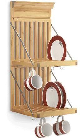 wall mounted dish rack wall