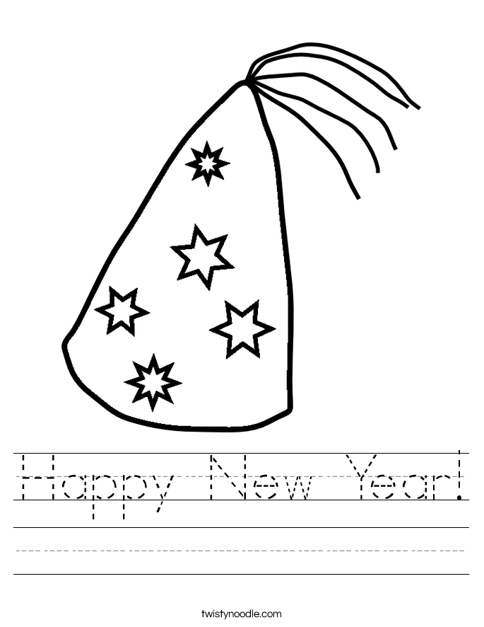 Happy New Year 2018 Coloring Pages Download   Happy New Year 2018 ...
